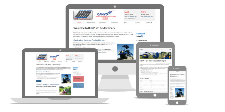 Screen shots for the ICB Plant website